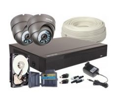 4v1 set, 2x Kamera FULL HD / IR20, 4CH DVR, 500 GB HDD