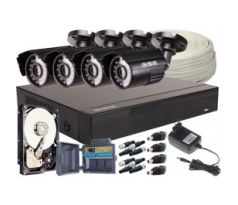 4in1 Kit, 4X Kamera 5 Mpx / IR20, 4CH DVR + 500 GB Hard